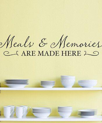 Black 'Meals & Memories' Wall Decal