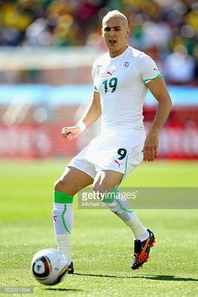 Hassan Yebda of Algeria in action during the 2010 FIFA World Cup South Africa Group C match between Algeria and Slovenia at the Peter Mokaba Stadium...