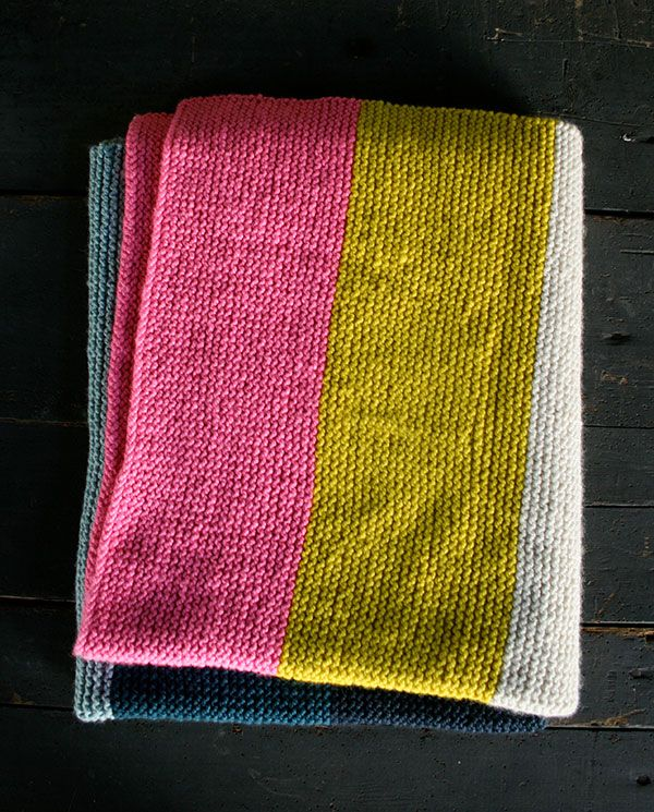 Knit And Purl Stitch Blanket : Purl Bees Super Easy Blanket free pattern. Since its introduction, we