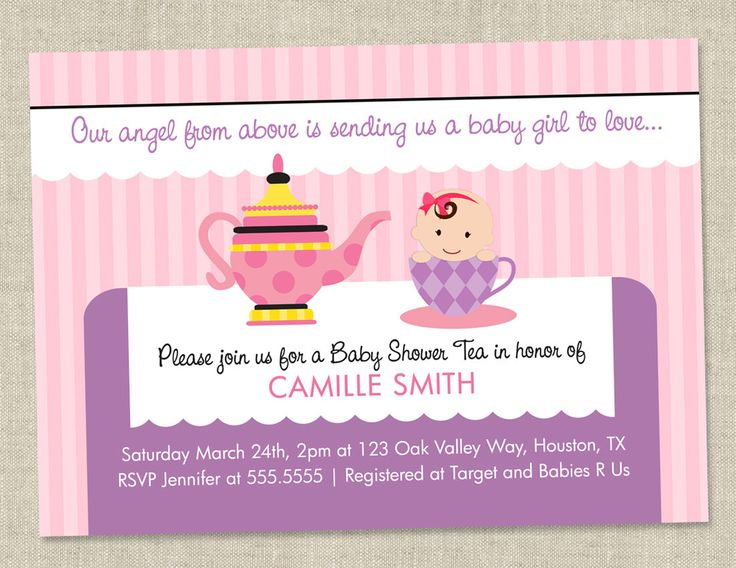 23 best images about Dalises Baby Shower – Baby Shower Tea Party Invitation