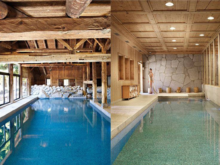 beau Les fermes de marie, megève, france, piscine intérieure, esprit chalet, bois