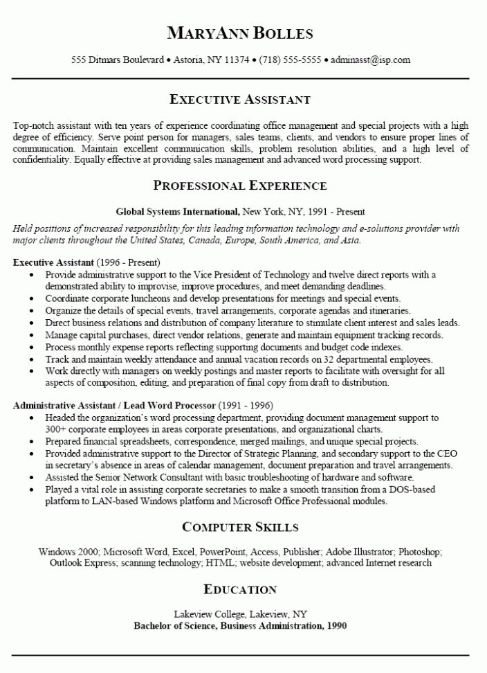 In the event that you are applying for an administrative assistant position for any company, the reader of the resume will expect you to be formal and stay