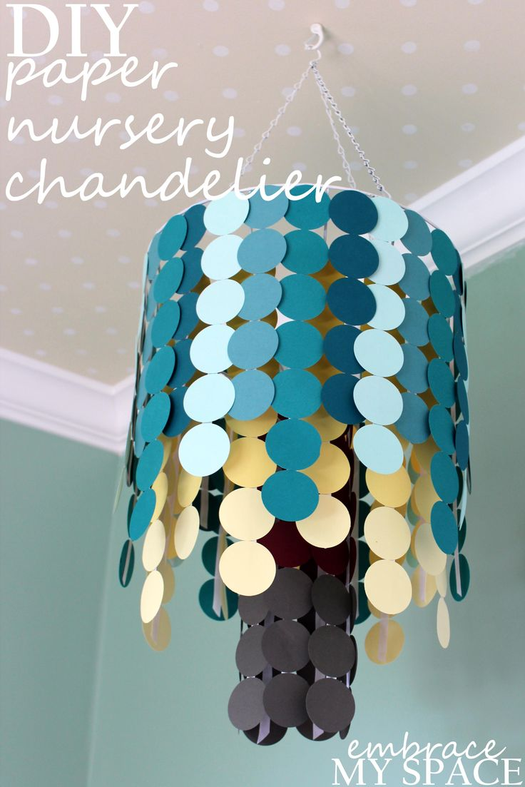 77 best diy nursery mobiles images on pinterest mobiles diy diy nursery chandeliermobile from wire hanging basket arubaitofo Choice Image
