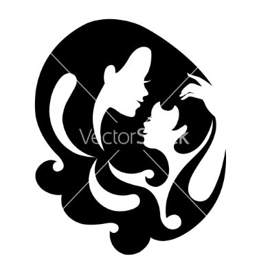 Mother and baby silhouette symbol vector 2843965 by pimonova on vectorstock