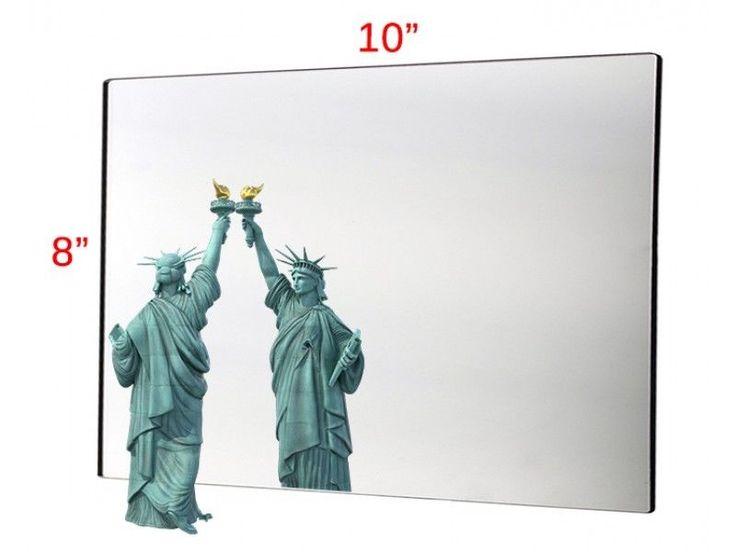 "8"" X 10"" Plastic Mirror Sheet Use for Car Camping, Fun House Day Care Montessori #UnbrandedGeneric"