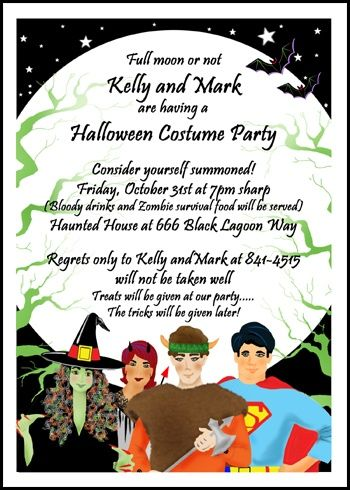 lots of spook tackular halloween costume party invitations all at
