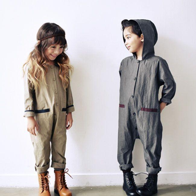 RoanJane Pilot Kids Overalls (Grey) – Greenberry Kids