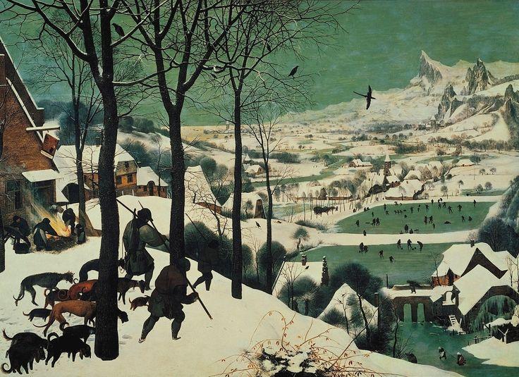 PIETER BRUGHEL THE ELDER- Hunters in the Snow-- 1565--Oil on panel--- Vienna