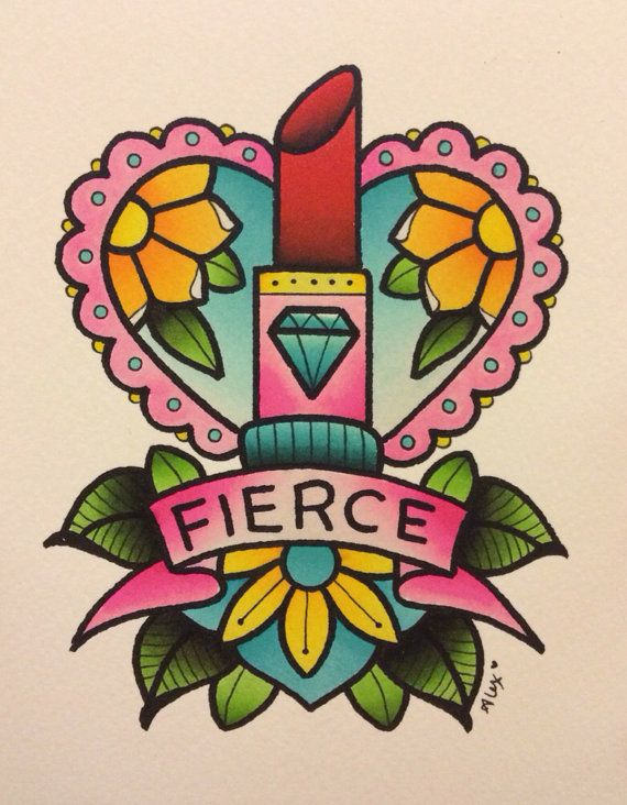Fierce Lipstick Print by Alex Strangler by AlexStrangler on Etsy, $15.00