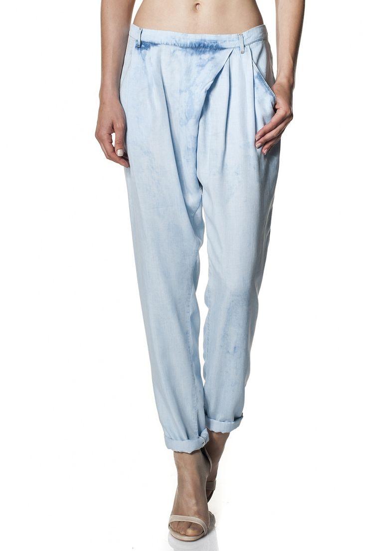 Pantalones vaporosos de Tencel   112706 Bleach   Salsa