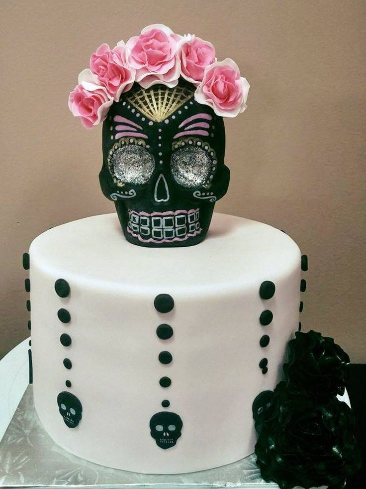 Day Of The Dead Sugar Skull Cake on Cake Central