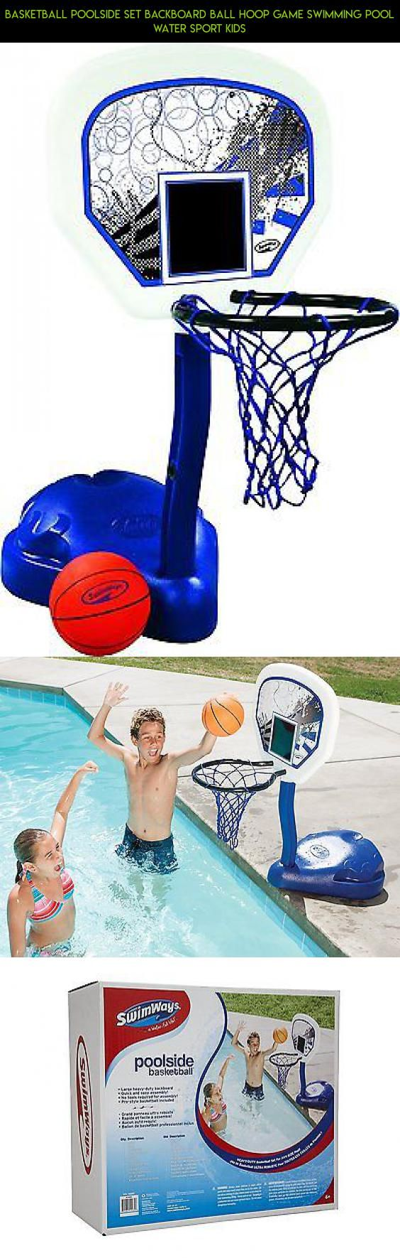 Basketball Poolside Set Backboard Ball Hoop Game Swimming Pool Water Sport Kids #technology #tech #parts #poolside #plans #kit #products #drone #camera #basketball #hoop #gadgets #fpv #shopping #racing