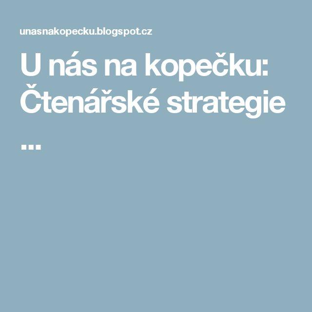 U nás na kopečku: Čtenářské strategie ...
