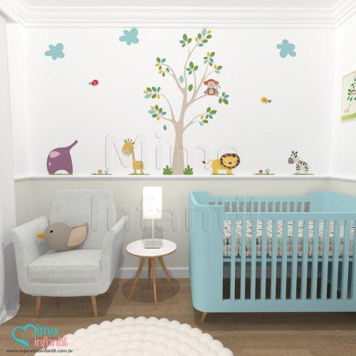 Nosso Adesivo Safari Infantil tem como objetivo criar uma decoração lúdica no quarto do bebe. Compre esteAdesivo de Parede Safaricom FRETE GRÁTIS