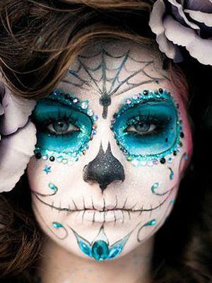 pintura de caras para hallowen de catrina maquillaje de halloween calaveras mexicanas ideas