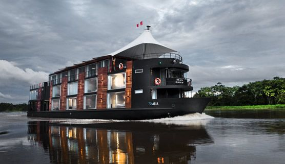 Explore the Amazon in futuristic style aboard the MV Aria. Photo courtesy of Aqua Expeditions