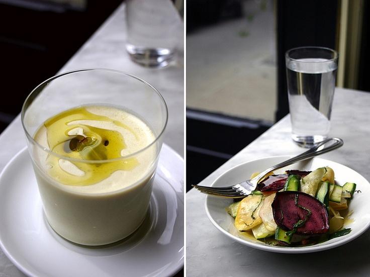 gazpacho & zucchini salad, Prune, NYC by local milk