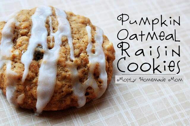 Pumpkin oatmeal raisin cookies | Baking | Pinterest