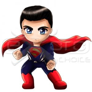 Exoro Shop Superman Angry Chibi - Exoro Shop