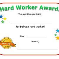 hard worker award