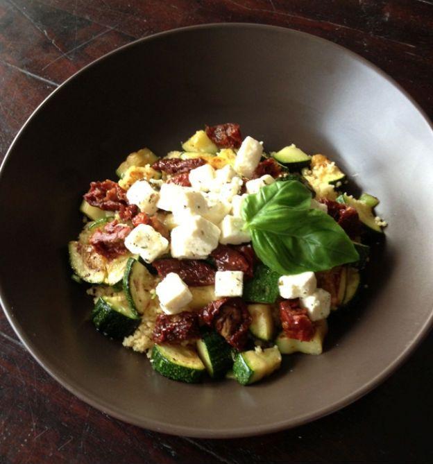 Quinoasalade met courgette en feta ♥ Foodness - good food, top products, great health