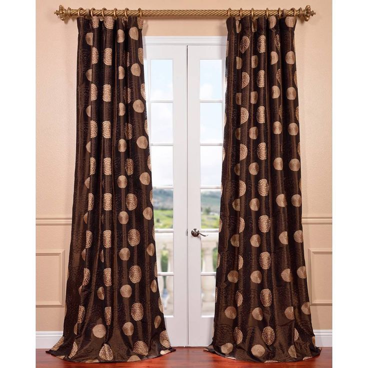 Exclusive Fabrics Zen Garden Chocolate Embroidered Faux Silk Curtain Panel | Overstock.com Shopping – The Best Deals on Curtains