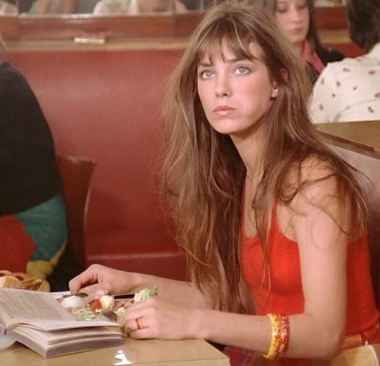 Jane Birkin. She looks amazing even with a mouth full of food. How is that fair?