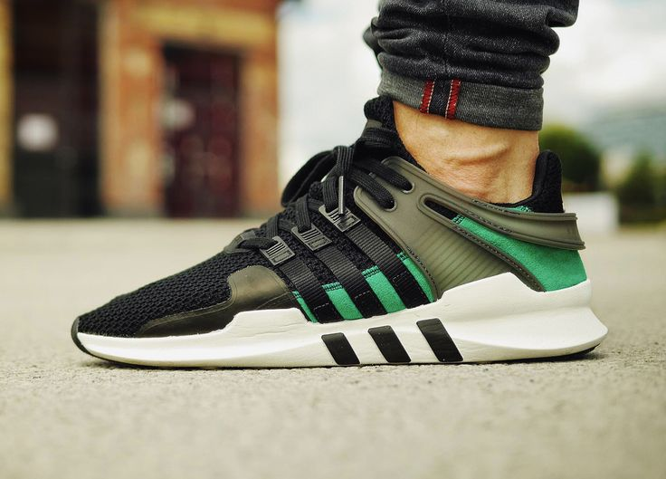 Adidas EQT Support ADV - Core Black/Sub Green... – Sweetsoles – Sneakers, kicks and trainers. On feet.