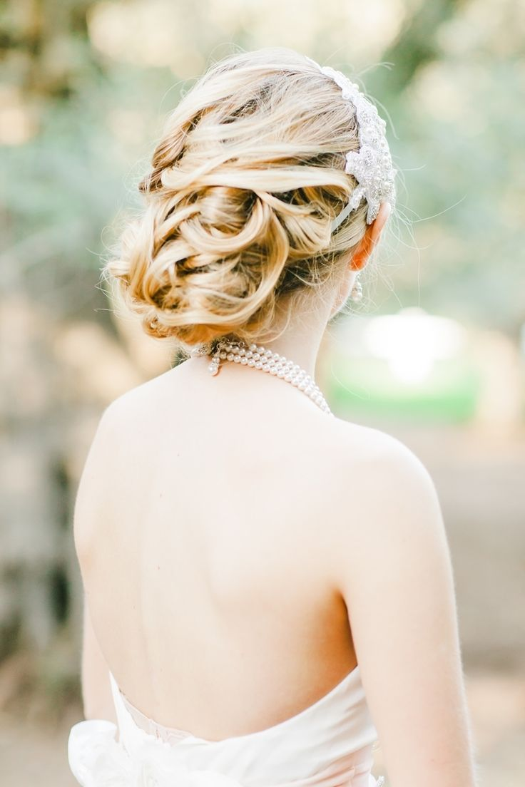 Updo bridal hairstyle - Photography: Avec L'amour Photography www.aveclamourphotography.com/ View more: https://www.fabmood.com/romantic-and-dreamy-pretty-in-pink-inspiration-shoot: