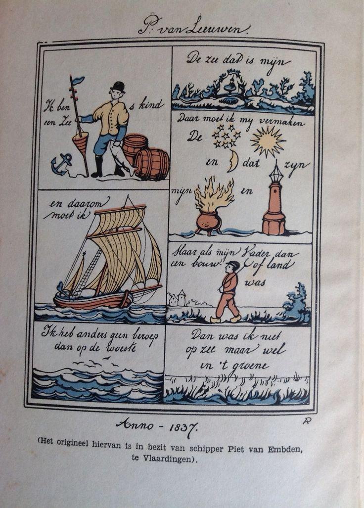 Versje uit Brood uit het water, F. van den Oever, 1946