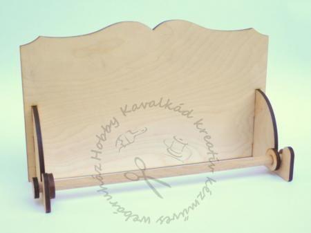 Hobbykavalkad - Webshop - Fa konyhai papírtörlő tartó, díszes tetejű