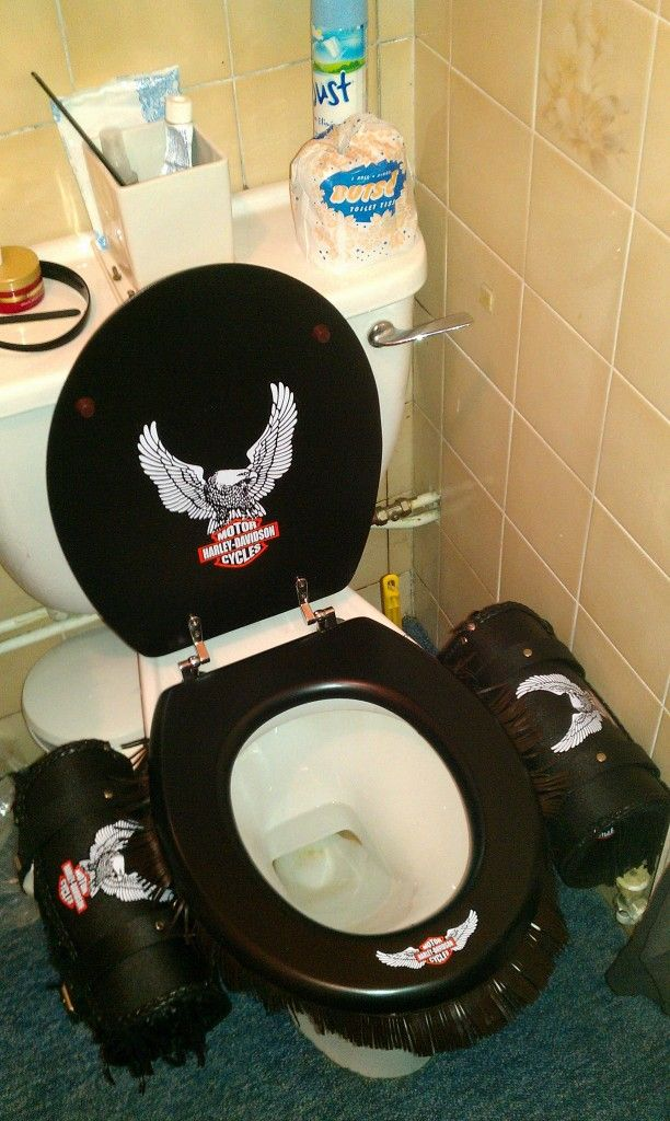 Every Harley Owners Dream For Their Throne Toilets