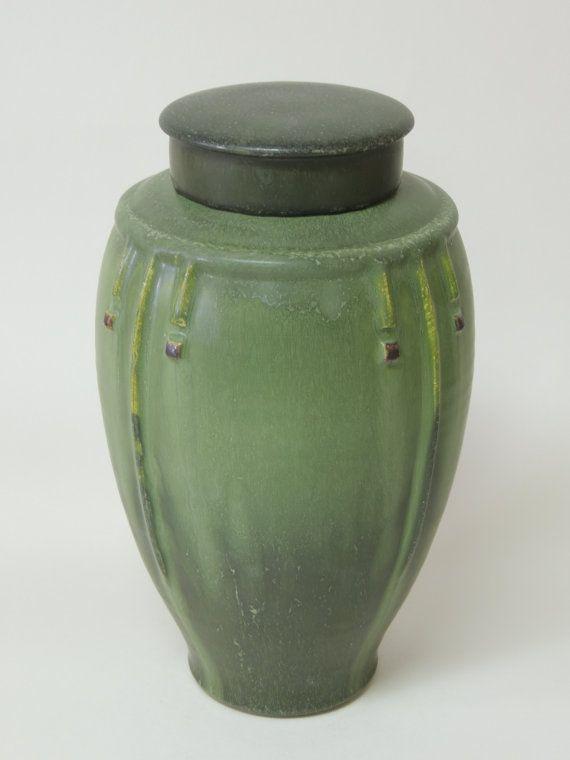 Door Pottery | Prairie Tea Jar in Dark Sage Over Maple Yellow | Arts u0026 Crafts & 118 best Door Pottery: Scott Draves John Teller Nicky Ross ... pezcame.com