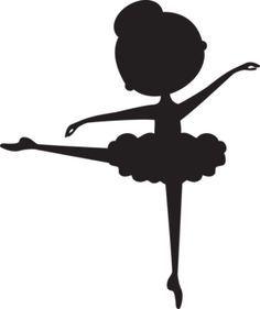 25 melhores ideias de Silhueta de bailarina no Pinterest  Molde