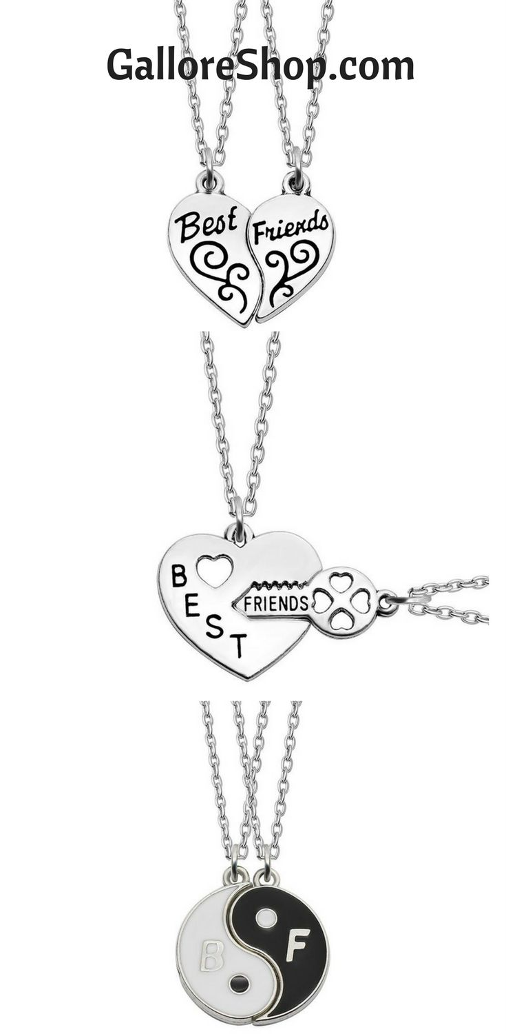 Display your love for your BFF with these hot best friend necklaces  best friend necklaces | best friend necklaces for 2 | best friend necklaces for three | best friend necklaces unique | best friend necklaces for four | best friend jewelry | best friend jewelry for 2 | best friend jewelry three | best friend jewelry rings | best friend jewelry necklaces | Best friend jewelry | Best Friend Jewelry Gift Ideas   #bestfriends #necklaces #pendantnecklace #friendshipgoals #inexpensive #coolgifts