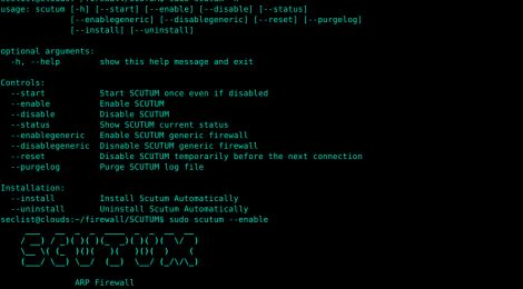 """SCUTUM is an ARP firewall that prevents your computer from being ARP-spoofed by other computers on LAN. SCUTUM controls """"arptables"""" in your computer so it accepts ARP packets only from the gateway. This way, when people with malicious intentions cannot spoof your arp table. SCUTUM also prevents other people from detecting your device on LAN if SCUTUM is used with properly configured TCP/UDP firewall."""