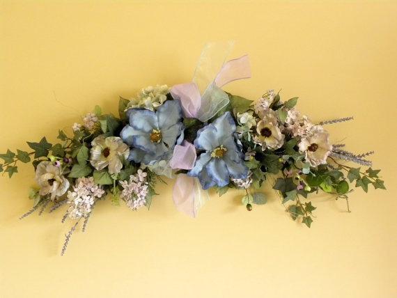 12 best Floral Swag Arrangements images on Pinterest   Floral ...