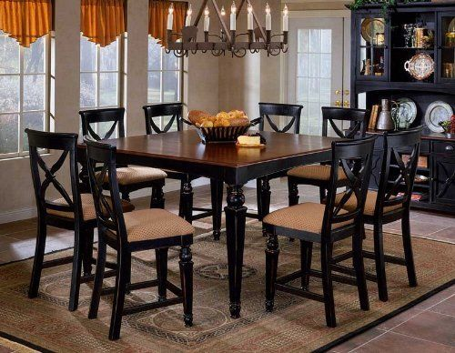 9pc Counter Height Dining Table And Stools Set In Black Finish By  Hillsdale. $1899.00.