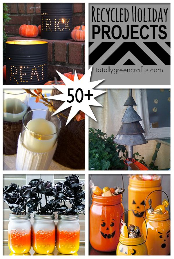 50+ Recycled Holiday Crafts to make @totgreencrafts1 via @savedbyloves
