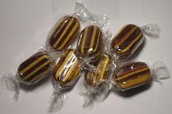 These were a childhood favorite, 3 for a penny. We made the poor man at the counter count out hundreds. They were wrapped up in a cone of newspaper. Wonderful.