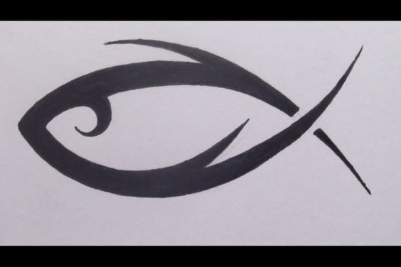 … jesus ichthus tattoo tribal fish christian tattoos christian art fish – – #smalltattoos – – #smalltattoos