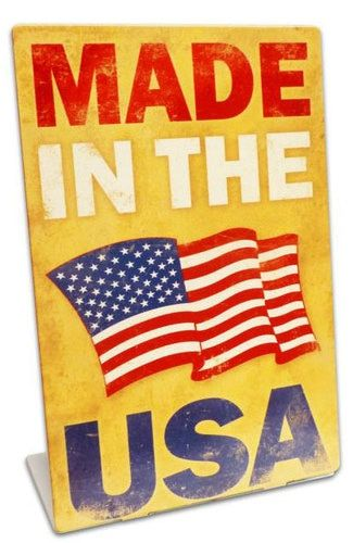 made in the usa table topper metal sign 6 x 9 inches patriotic usa