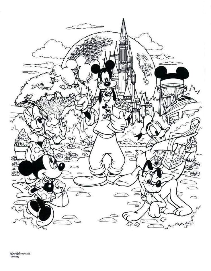 Disneyland Coloring Pages : Disneyland mickey mouse coloring pages best