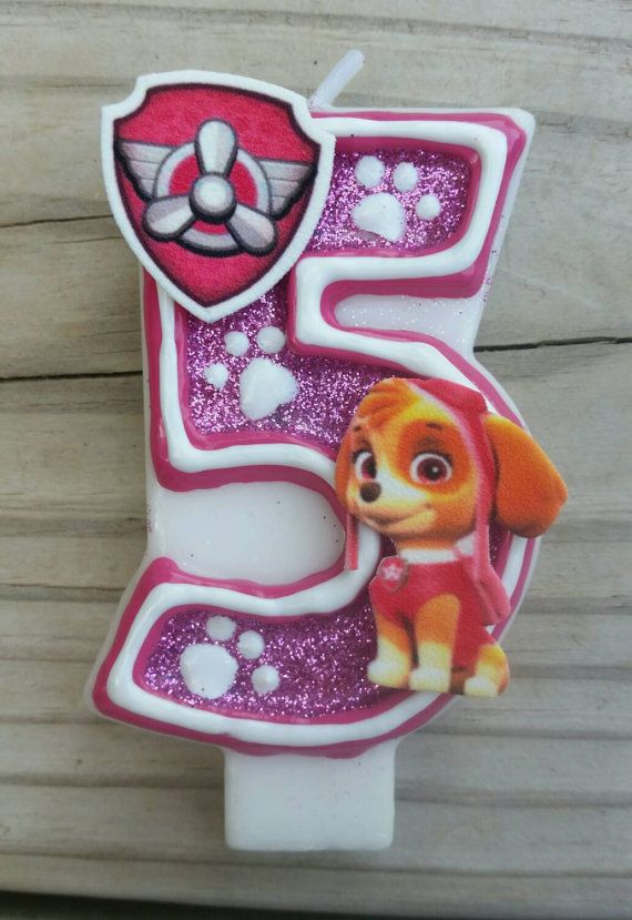 This listing is for a Skye from Paw Patrol birthday candle in your choice of number. Each candle is hand painted and food safe.  If you are