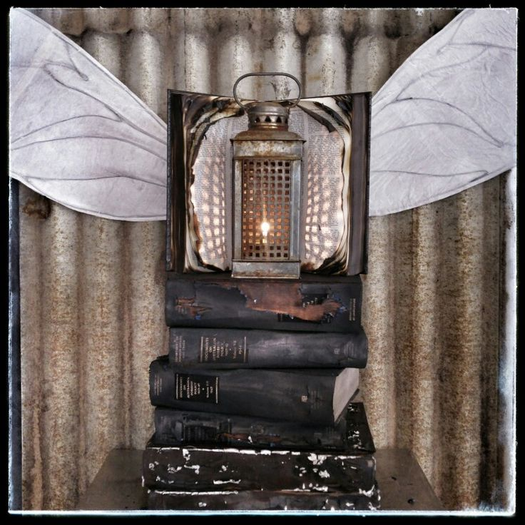 A metaphoric conversation with Anselm Kiefer...burnt books, wings, corrugated iron and lamp
