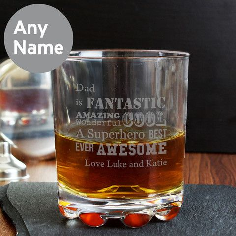 Is your best man fantastic, amazing, wonderful, cool......??? Personalised Whisky Glass - Personalised He Is Whisky Glass