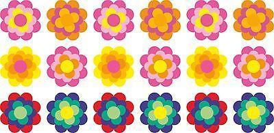 Aufkleber Prilblume Prilblumen RETROSTYLE 18x 4,5cm ORIGINAL 70er Jahre Farben
