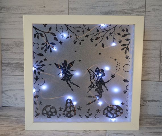 Fairy Night Light Nursery Decor Fairy Lights Shadow Box
