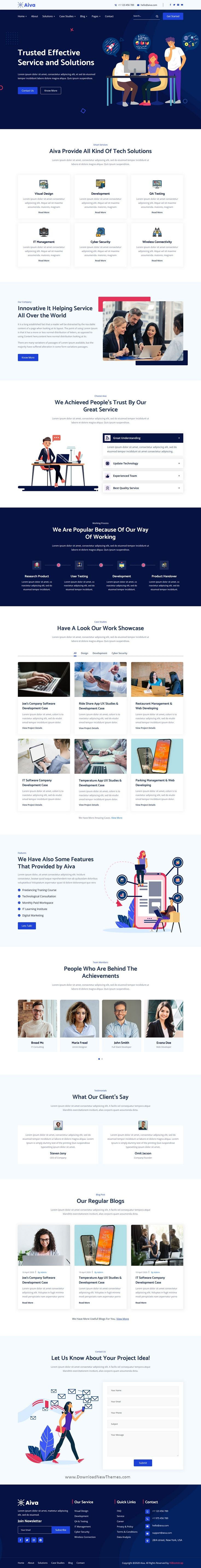 Aiva Angular 9 IT Solutions Template in 2020 Bootstrap