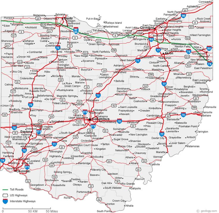 maps ohio | Map of Ohio Cities - Ohio Road Map